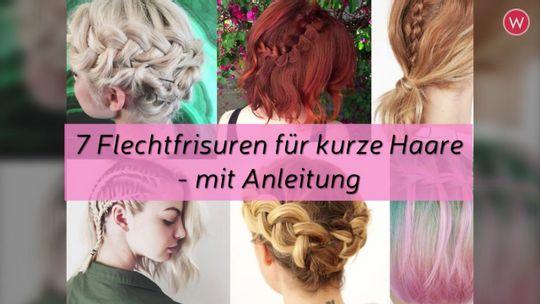 Kurze Haare Flechten Frisuren Mit Anleitung