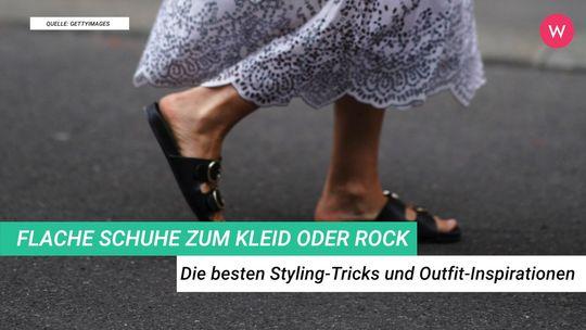 Flache Schuhe zum Kleid oder Rock: Die besten Styling Tricks