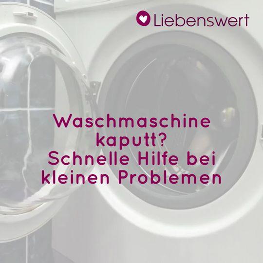 Hervorragend Waschmaschine kaputt? So können Sie kleinere Probleme lösen SM23